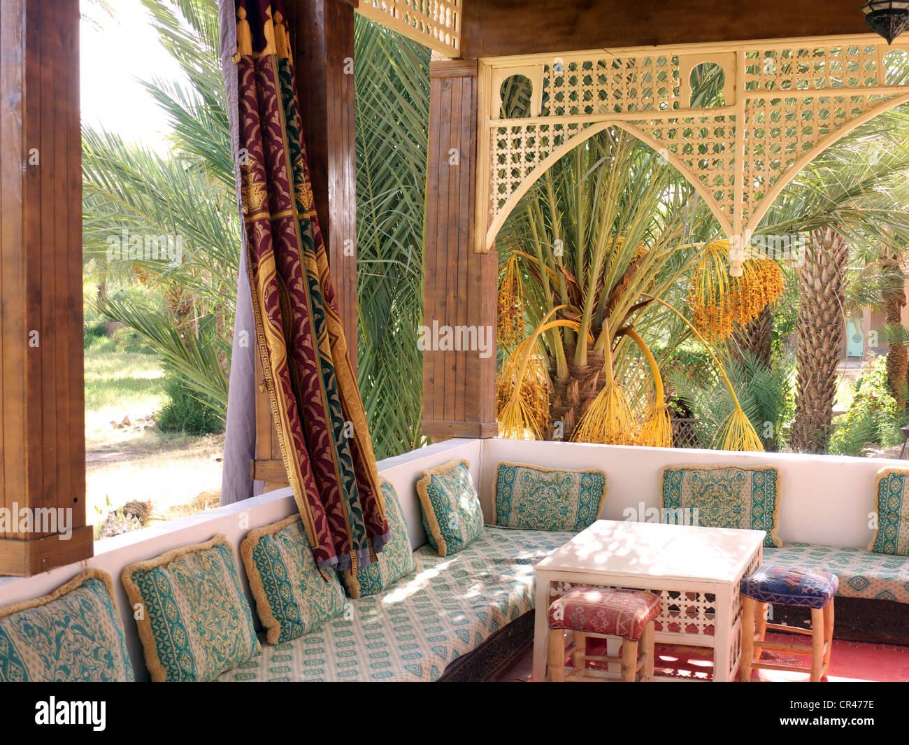 Traditionelles Marokkanische Dekor In Einem Riad Im Kasbah Stil Umgewandelt  Hotel, Agdz, Draa Tal, Marokko, Nordafrika, Afrika