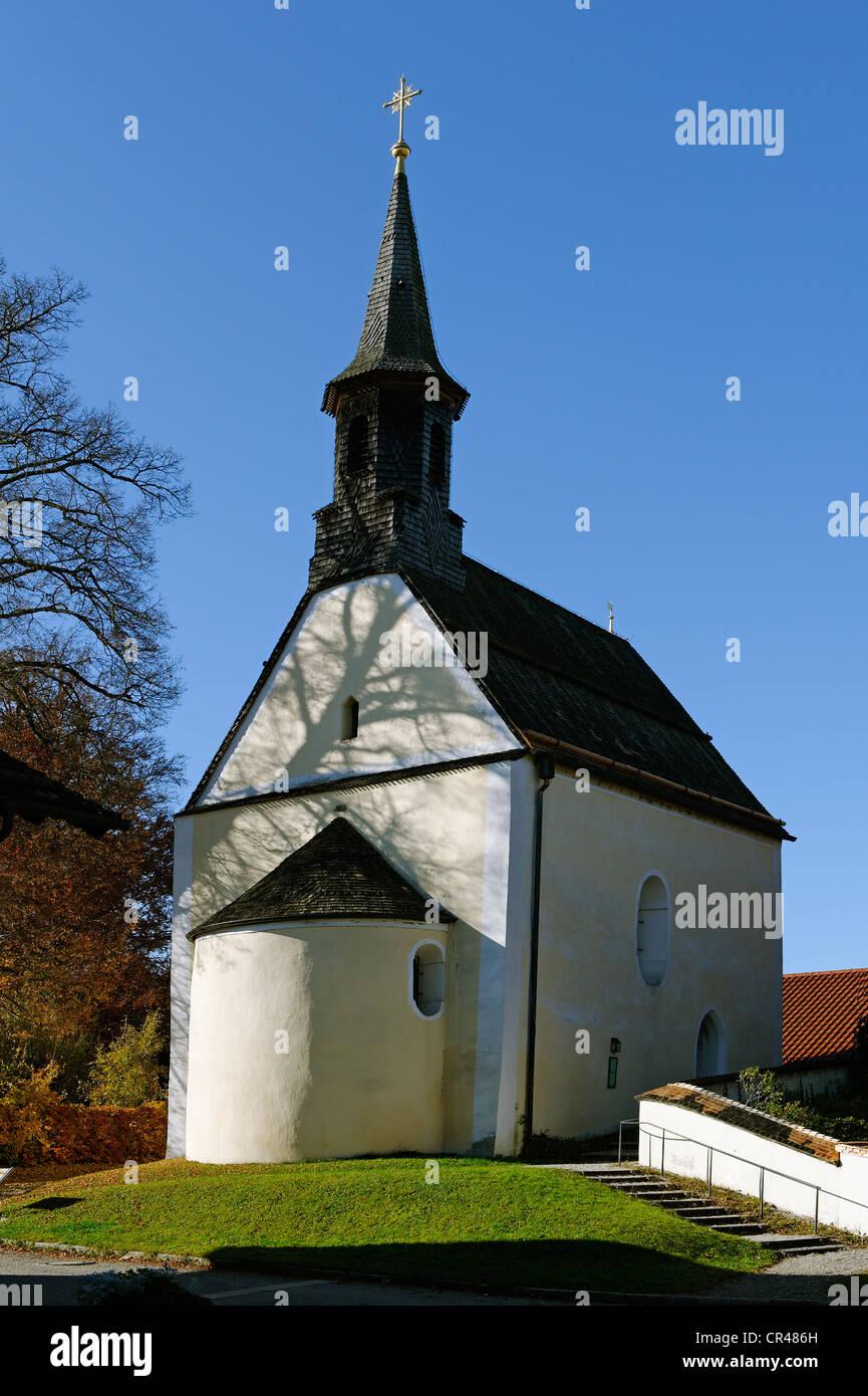 Tochter Kirche von St. Johann Baptist, Berg, Oberbayern, Deutschland, Europa Stockbild
