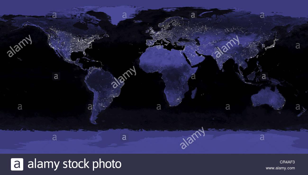 Lichtverschmutzung Karte Welt.Lichtverschmutzung Stockfotos Lichtverschmutzung Bilder