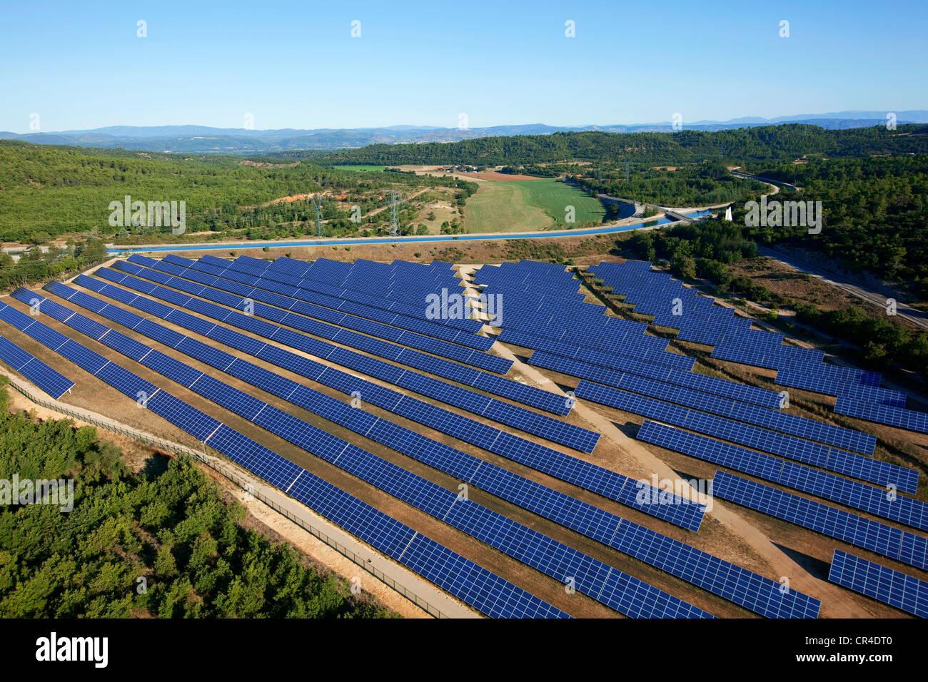Frankreich Var Vinon Sur Verdon Photovoltaik Gewachshaus