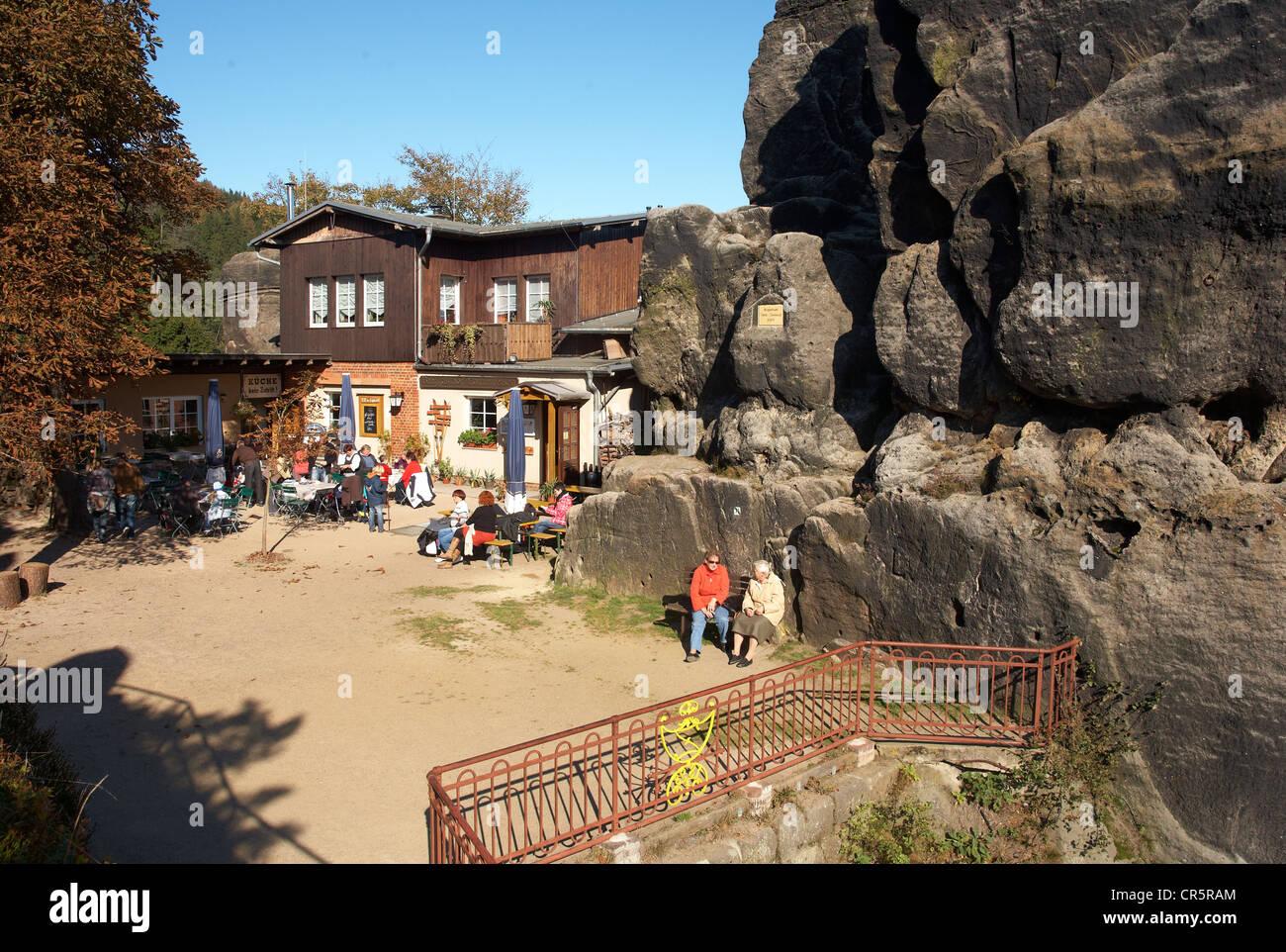 Klettersteig Zittauer Gebirge : Nonnenfelsen zittauer gebirge stockfotos