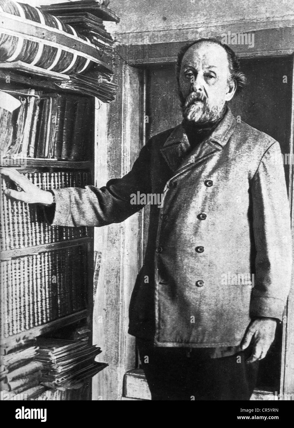 Tsiolkovskii, Konstantin Eduardowitsch, 17.9.1857 - 19.9.1935, russischer Physiker, Mathematiker, Pionier der astronautischen Stockfoto