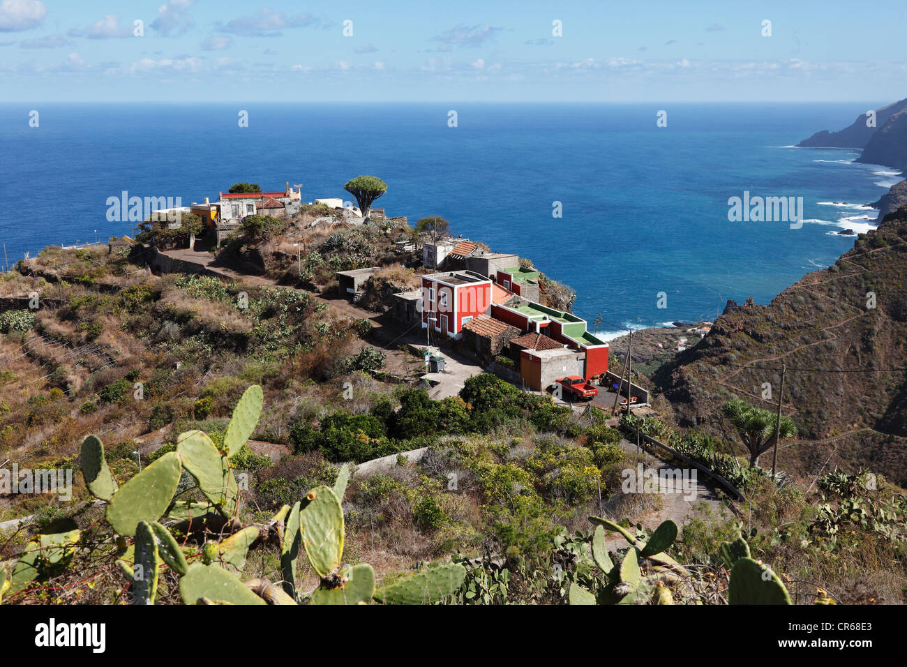 Spanien, La Palma, Blick auf El Tablado Stockbild