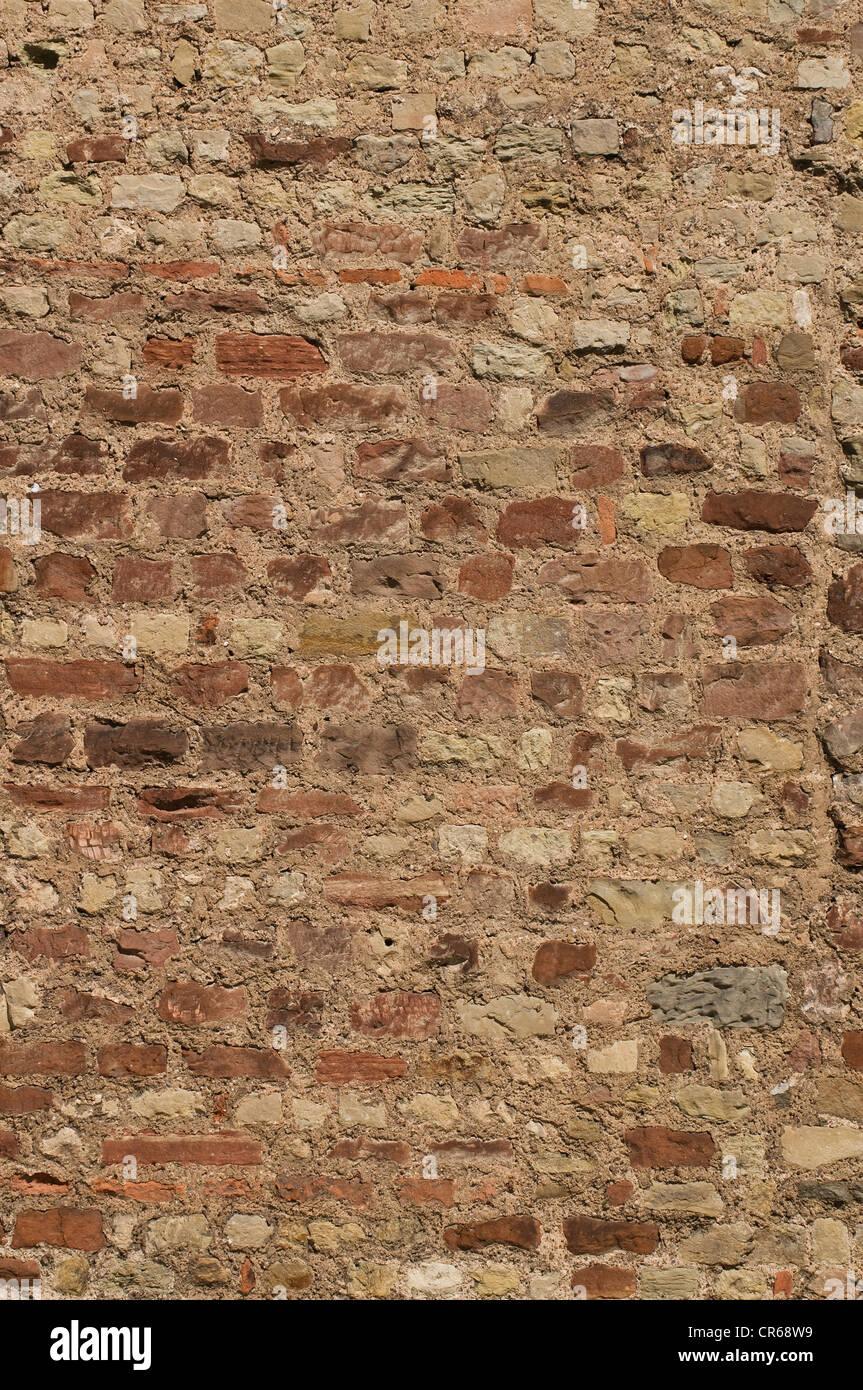 Ziegelmauer, Hintergrund Stockbild
