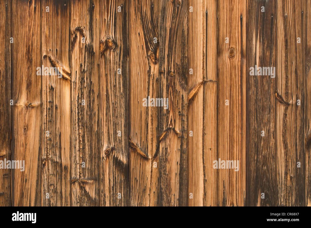 Holzwand mit markanten Maserung, Hintergrund Stockbild