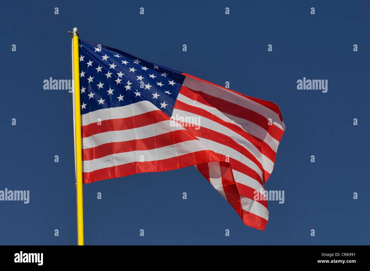 Nationalflagge der USA Stockbild