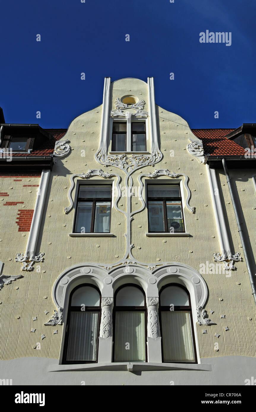 Jugendstil Ornamente Auf Eine Gebäude Fassade Um 1900 Steinbruecke