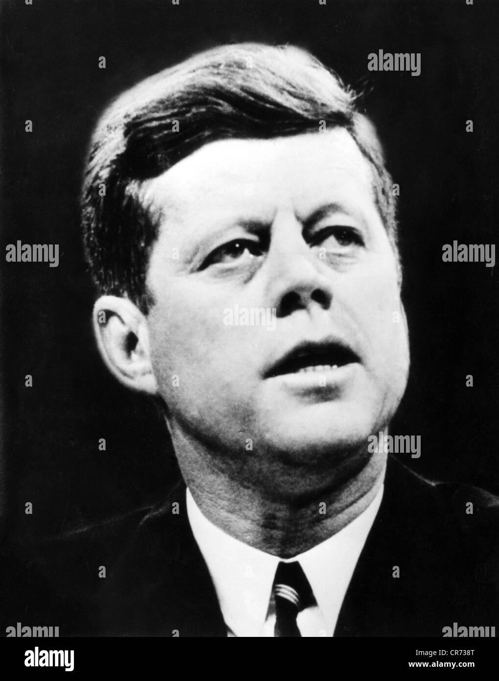 Kennedy, John Fitzgerald, 29.5.1917 - 22.11.1963, US-amerikanischer Politiker (Dem.), Präsident der USA 20.1.1961 Stockbild