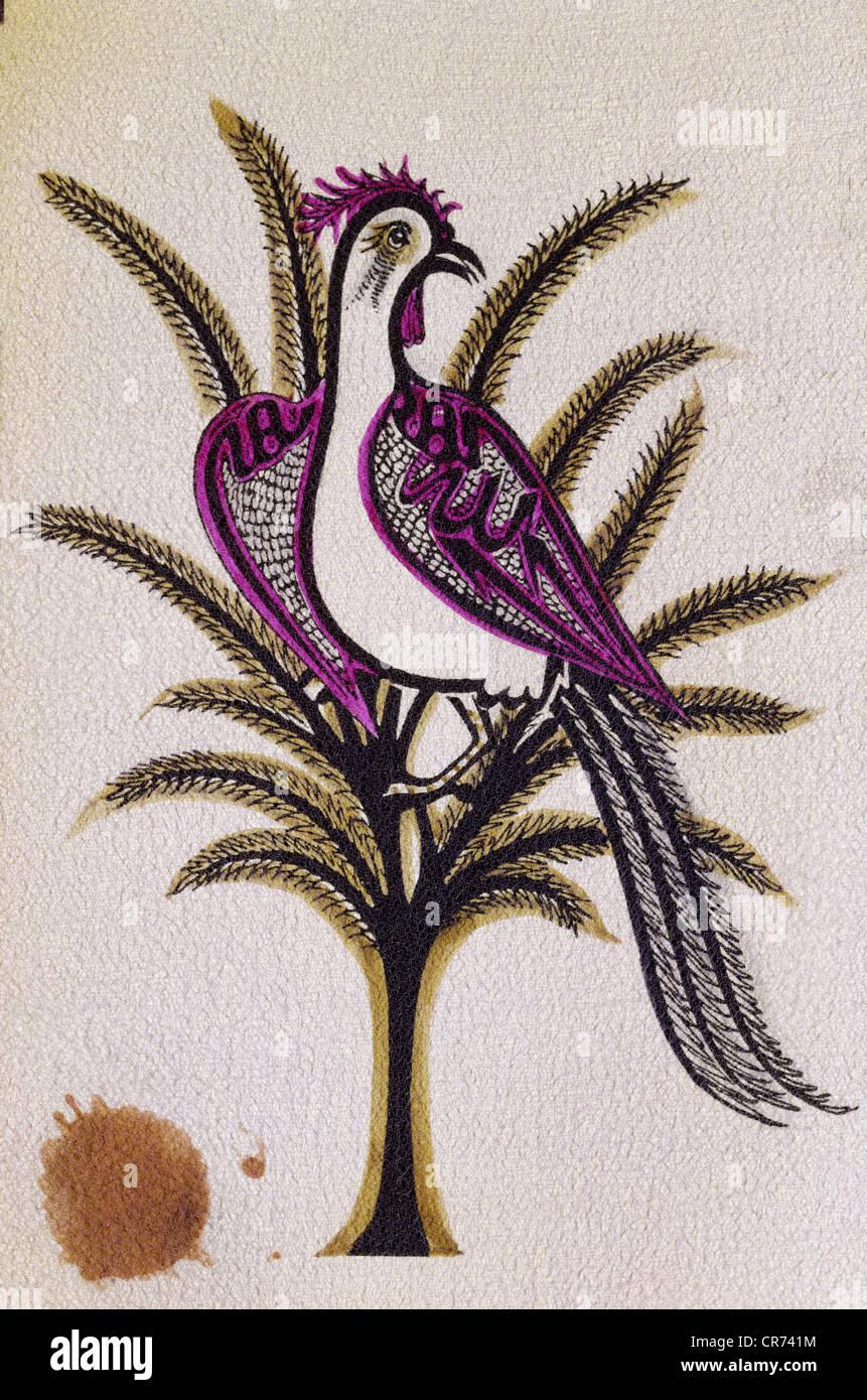 "Jami, Nur ad-Din Abd ar-Rahman, 18.8.1414 - 19.11.1492, Persische Autor/Schriftsteller, Werke, ""Haft awrang"", Stockbild"