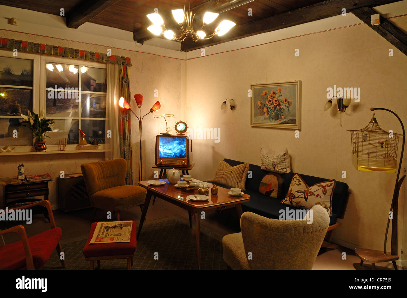 1950s living room stockfotos 1950s living room bilder alamy - Deutsche mobelhersteller wohnzimmer ...