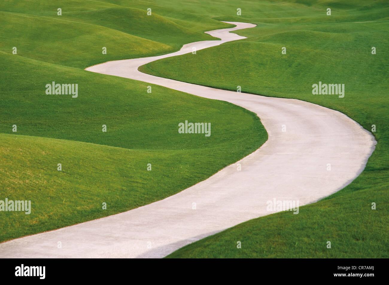 Türkei, Antalya, Ansicht des LinksLykia Golf Estates Stockbild