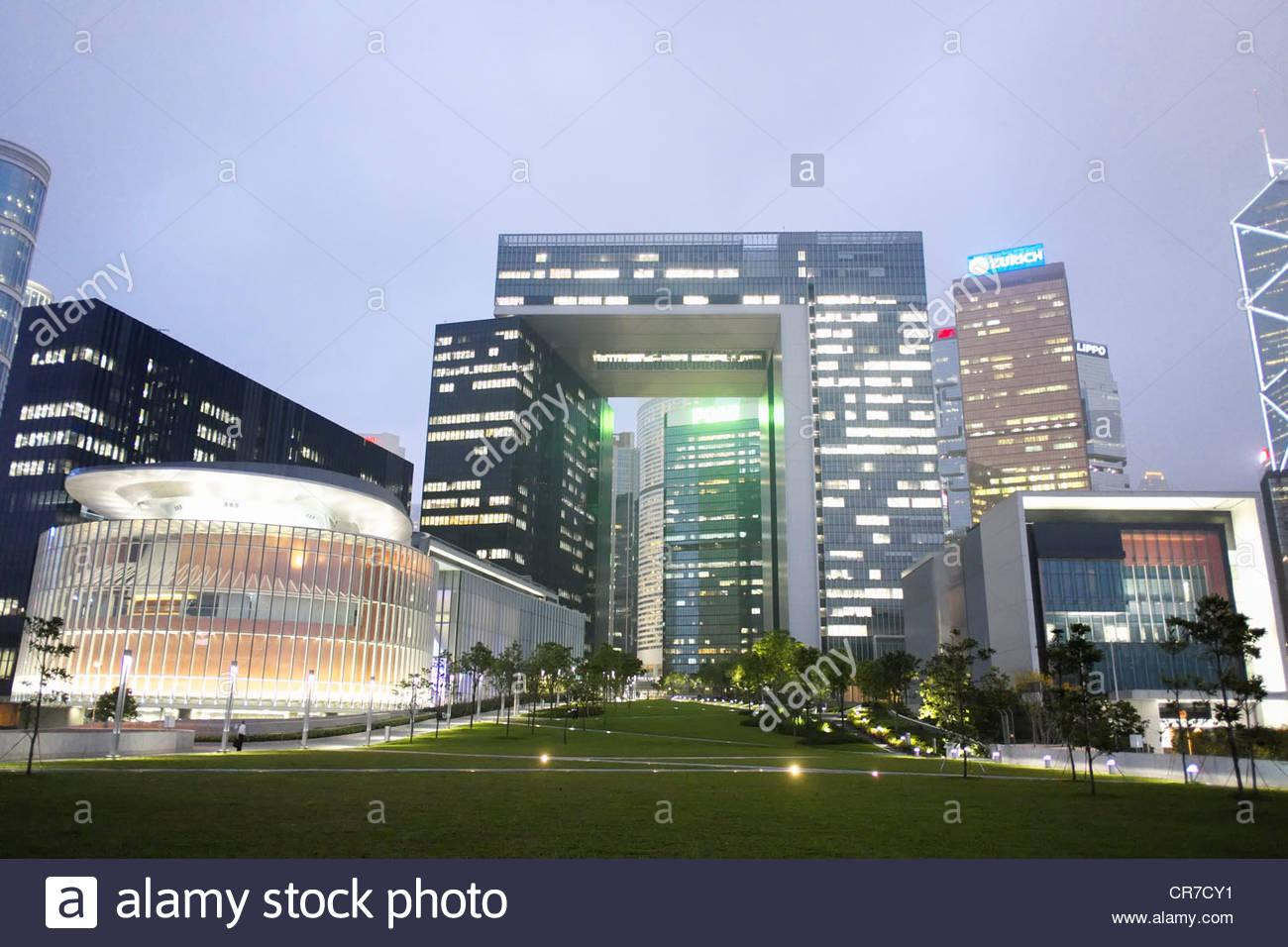 Neues Bürogebäude für den Sitz der Regierung von Hongkong Zivildienst in Admiralty Hong Kong Stockbild
