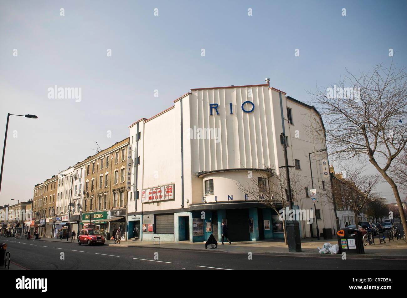 Die Rio-Kino am Kingsland High Street, Dalston, London, UK Stockbild