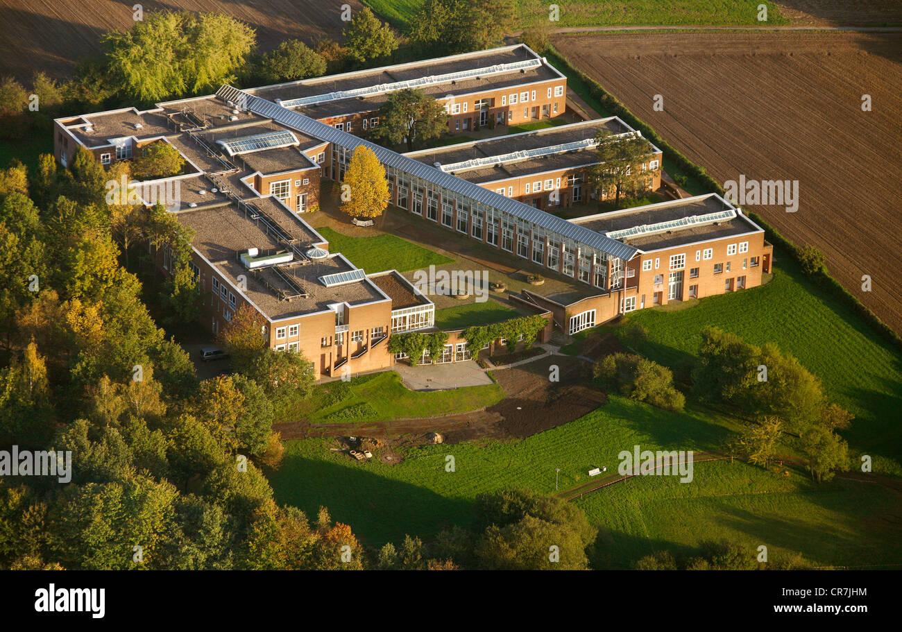 Luftaufnahme, Justizakademie, Weiterbildung Akademie, Recklinghausen, Ruhrgebiet, Nordrhein-Westfalen, Deutschland, Stockbild