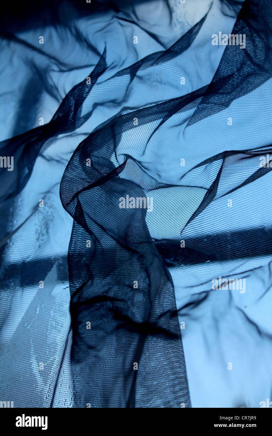 Abstrakte Kunst Der Fotografie Ein Fenster Und Manipulierten Vorhang Stockfotografie Alamy