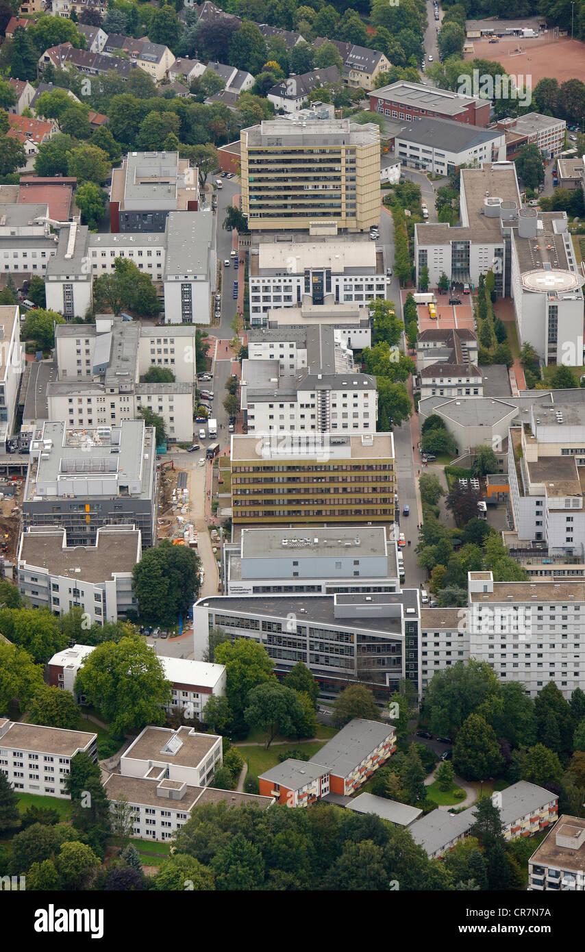 Luftaufnahme, Universitätsklinikum Essen, Ruhrgebiet, Nordrhein-Westfalen, Deutschland, Europa Stockbild