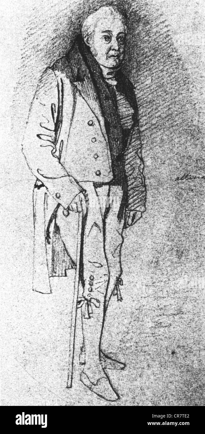 Coleridge (1772-1834) englischen romantischen Dichter gezeichnet von Daniel Maclise 1833 für einen Zeitschriftenartikel Stockbild