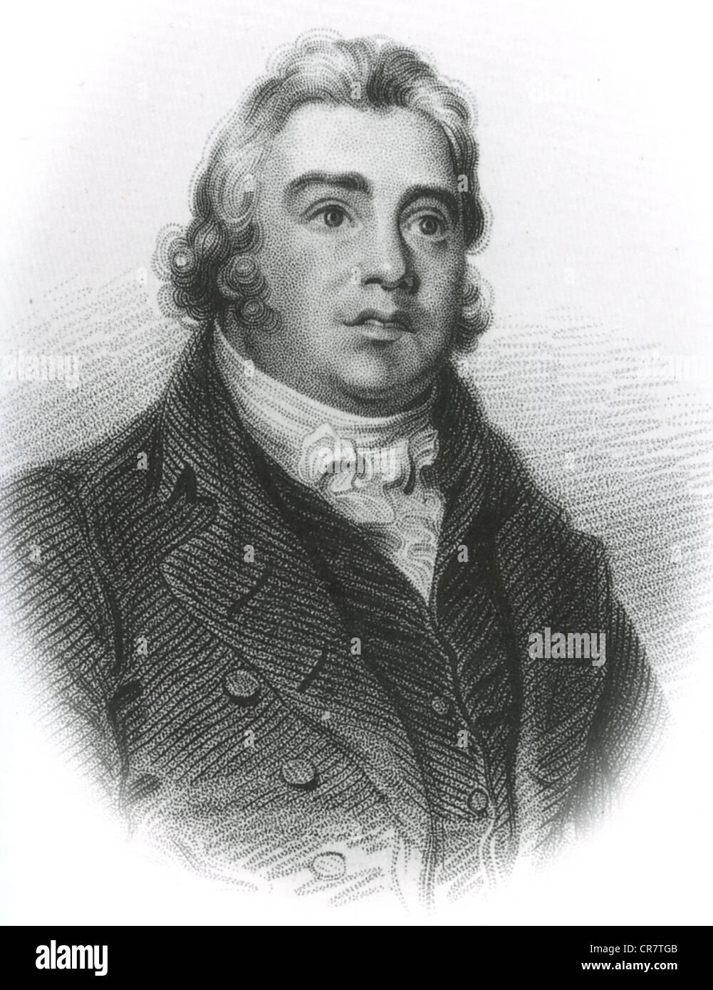 Coleridge (1772-1834) englischen romantischen Dichter über 1818 Stockbild