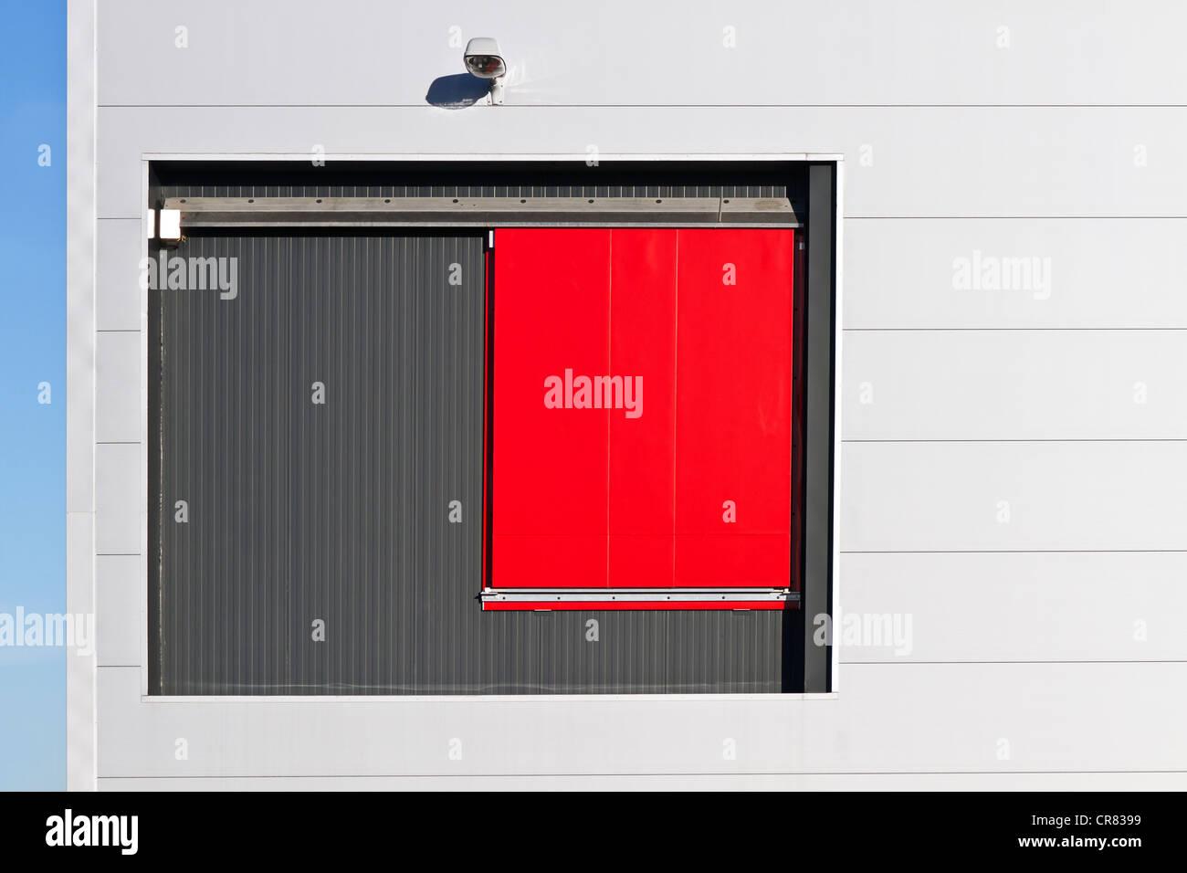 Rot Schiebe Türen Depot Ulm Baden Württemberg Deutschland