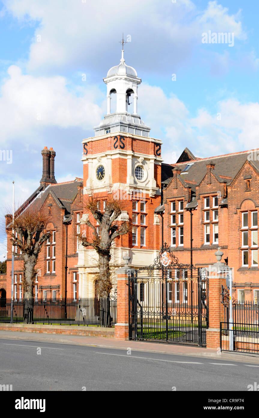 Tore & Front von Brentwood School main Backsteingebäude private unabhängige Tag & Internat Ausbildung Stockbild