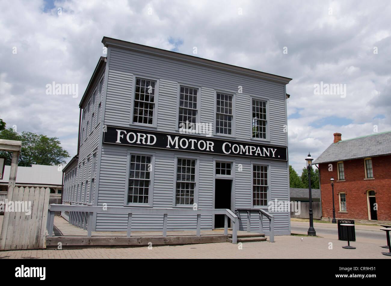 Michigan, wyandotte. Greenfield Village, die Heimat von fast 100 historische Gebäude aus dem 17. Jahrhundert. Stockbild