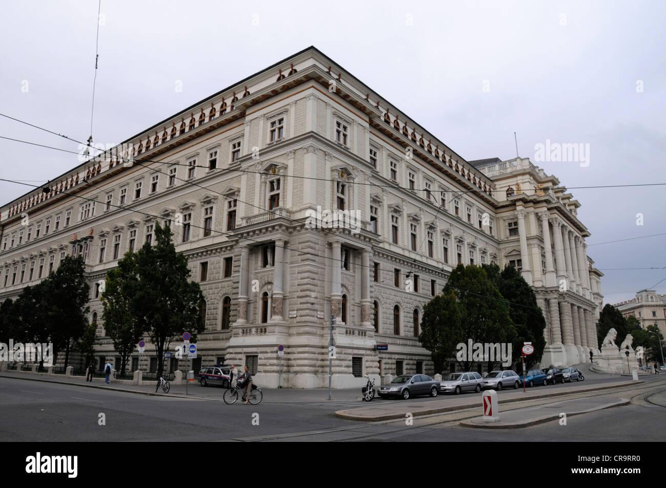 Justizpalast (Justizpalast) in Schmerlingplatz, zentralen Bezirk Innere Stadt in Wien, Österreich-Wien, Österreich Stockbild