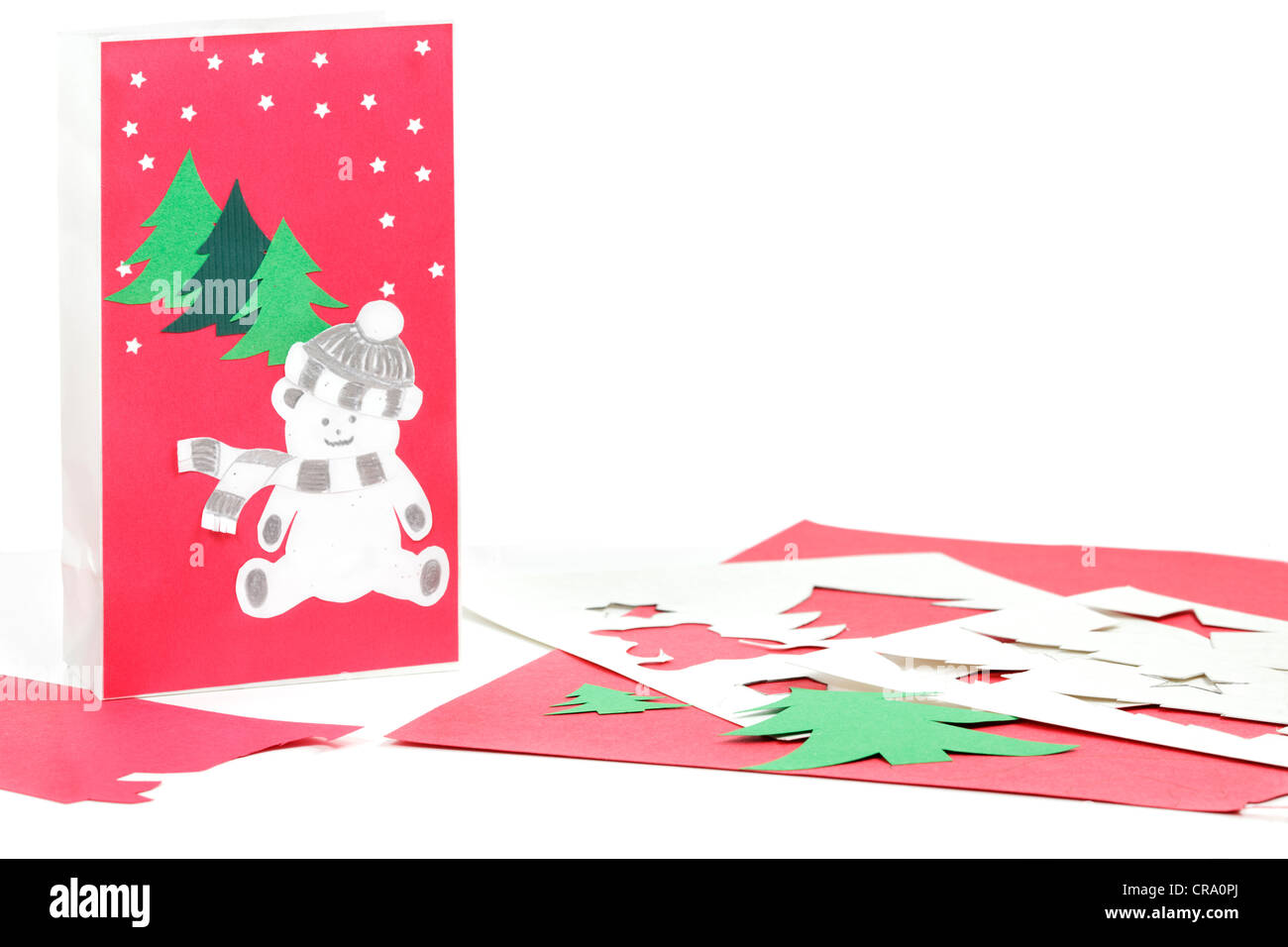 Bastelpapier Weihnachten.Christmas Tree Cut Out Paper Stockfotos Christmas Tree Cut Out