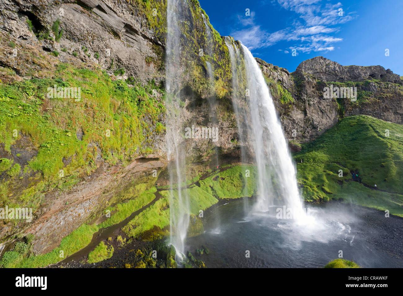 Seljalandsfoss Wasserfall, southern Island, Europa Stockbild