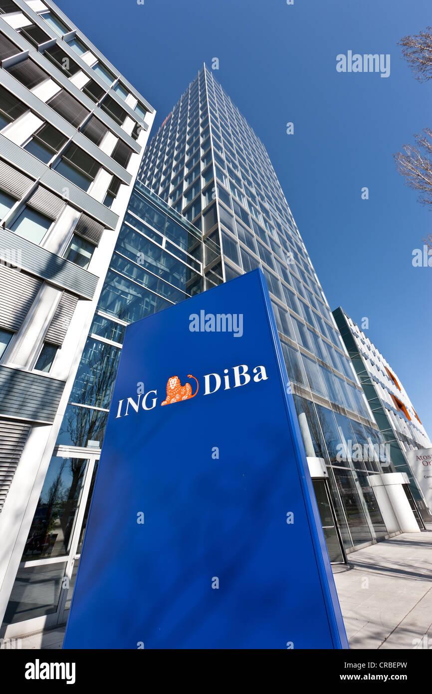 Hauptsitz der ING DiBa Bank in Frankfurt am Main, Hessen ...