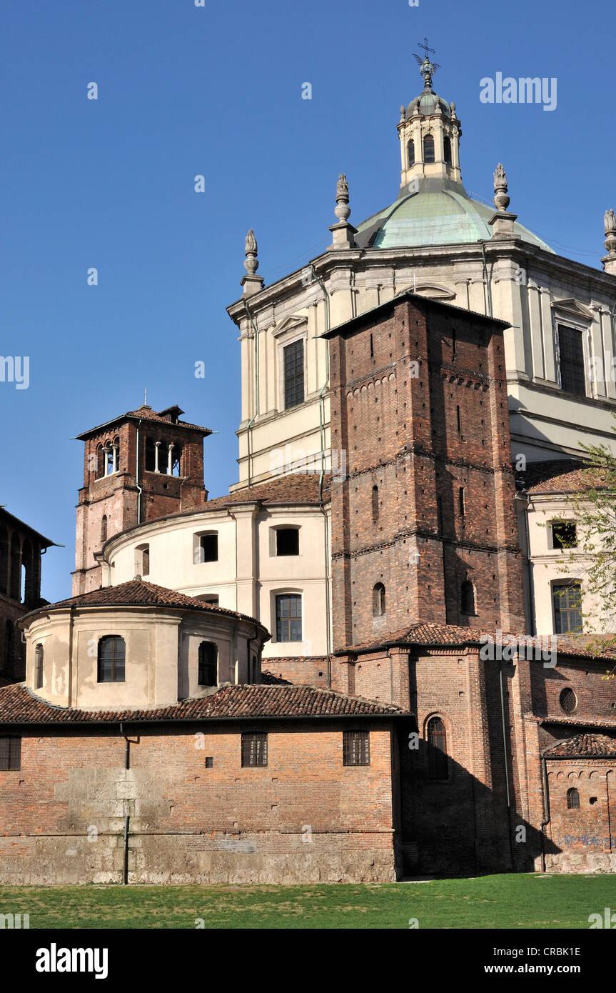 San Lorenzo zurück Ostseite, Milan Stockfoto, Bild ...