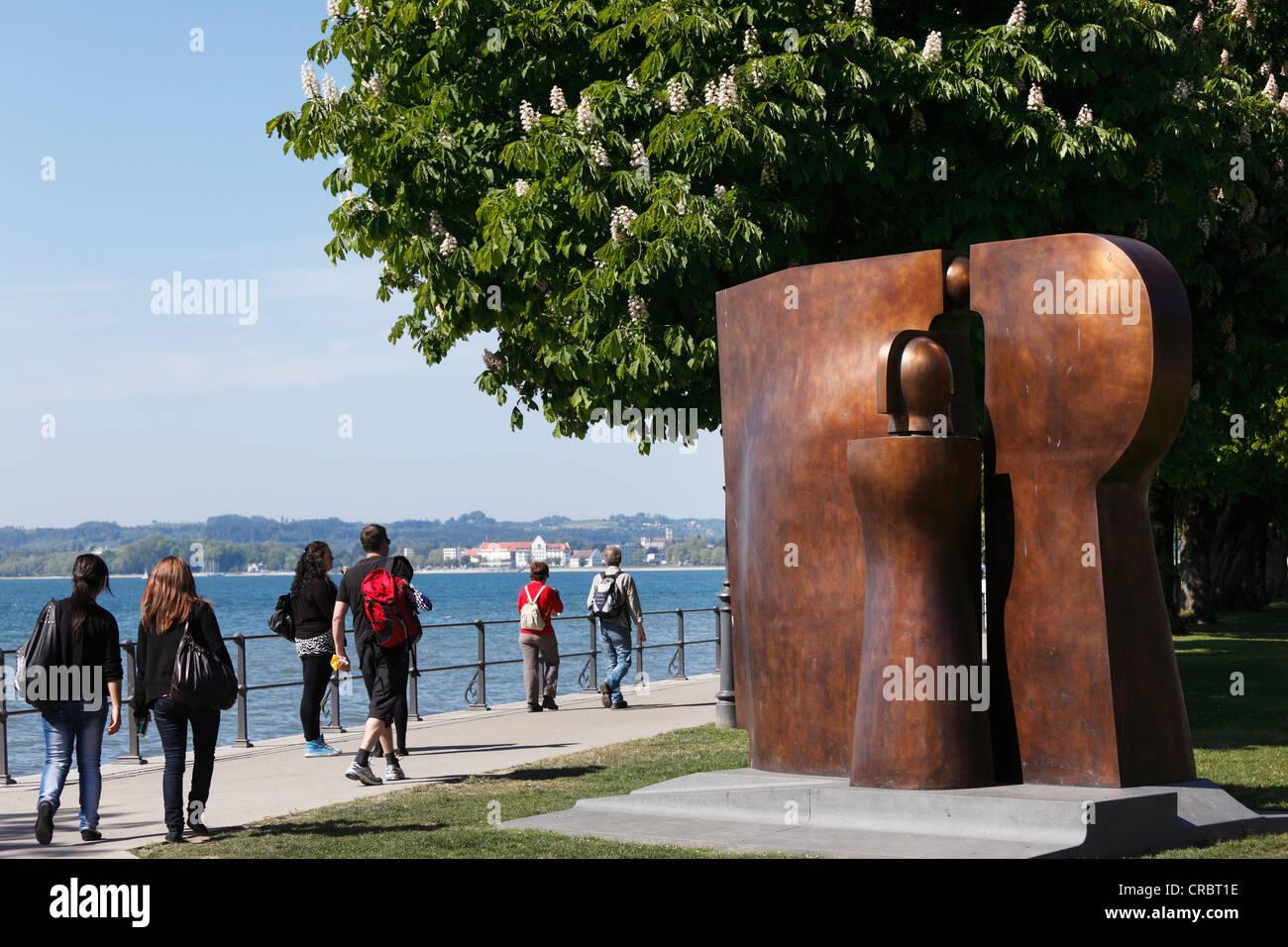 Bronze-Skulptur Hommage ein Brigantium oder eine Hommage an Brigantium durch Herbert Albrecht, 2010, Promenade am Stockbild