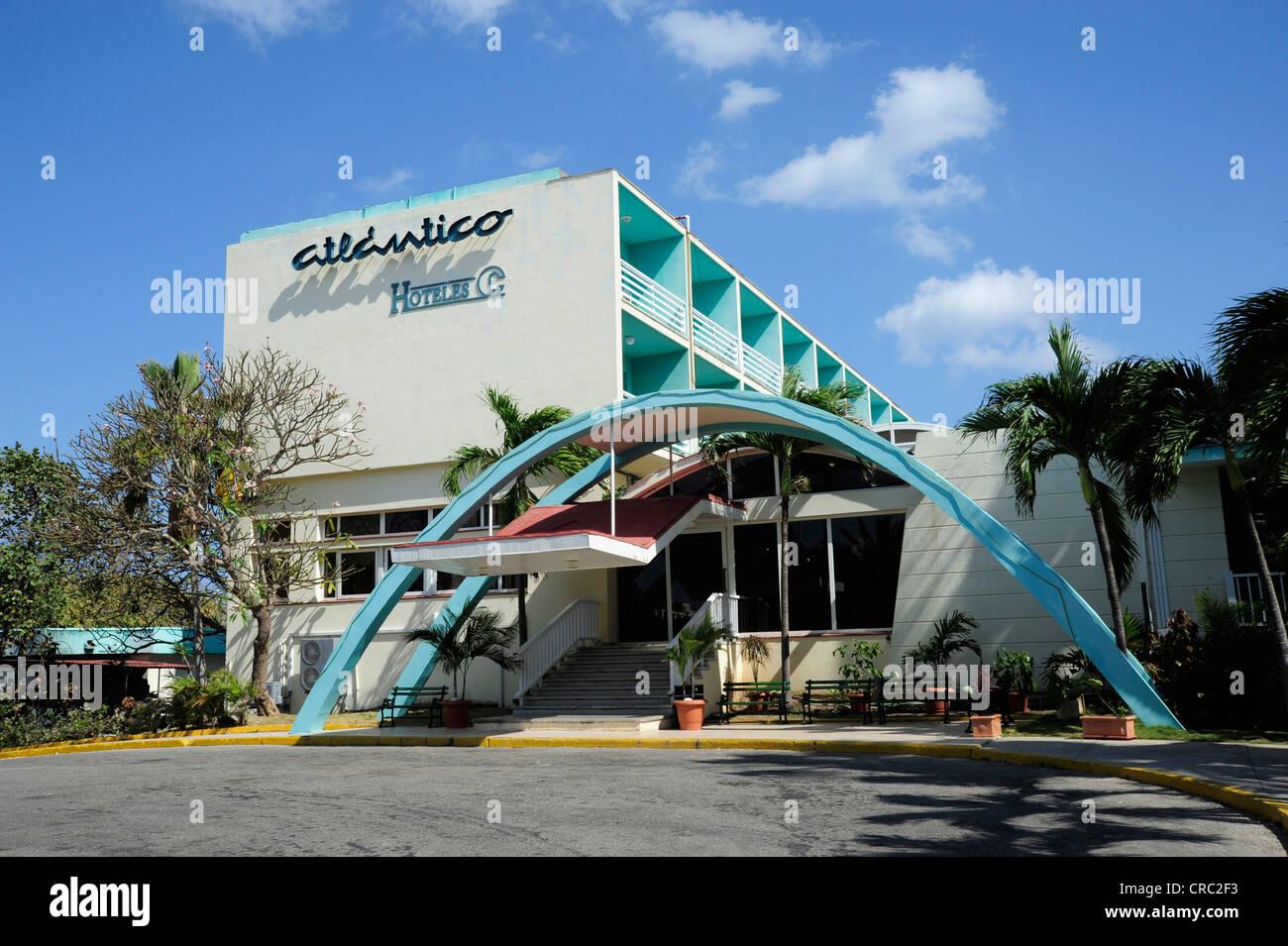 Hotel Atlantico am Strand, Santa Maria del Mar, Playas del Este, Havanna, Habana, Cuba, große Antillen, Golf Stockbild