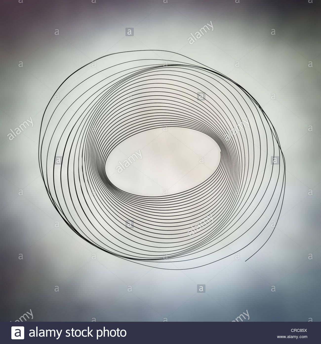abstrakte Lichtspur Wirbel Stockbild