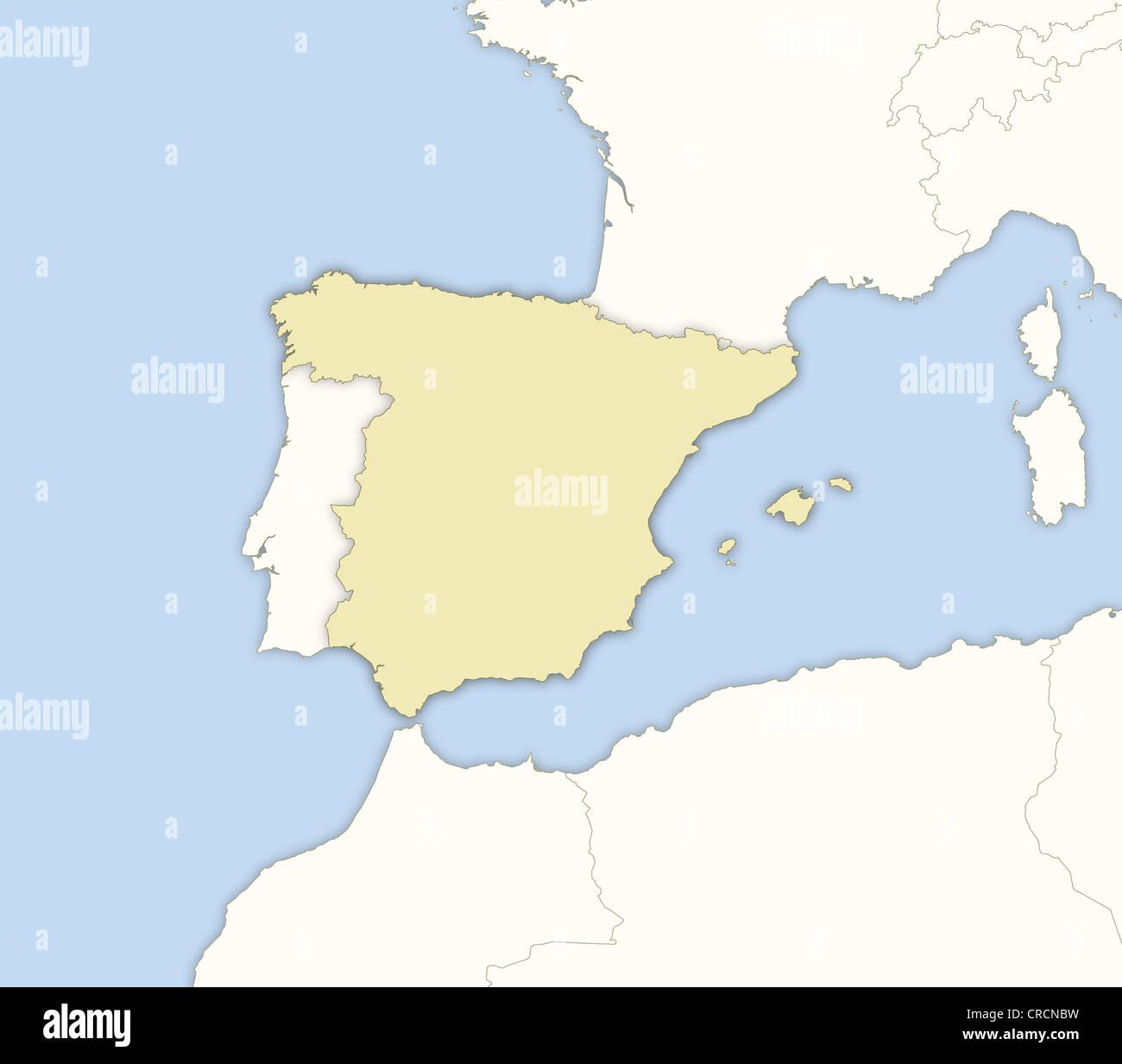 Spanien Karte Regionen.Politische Karte Von Spanien Mit Mehreren Regionen Stockfoto