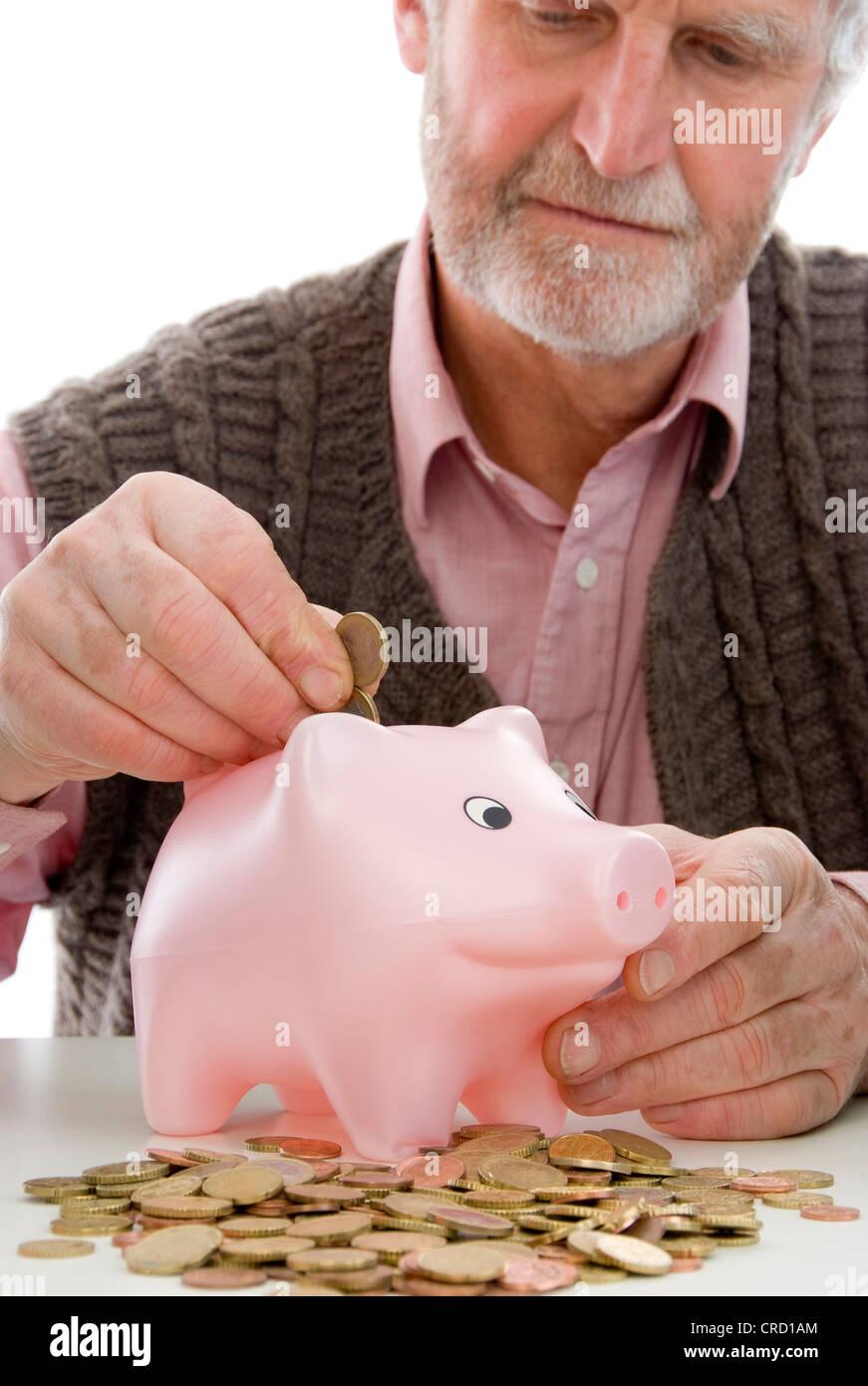 symbolisch für Rentner mit Mindestrente Stockbild