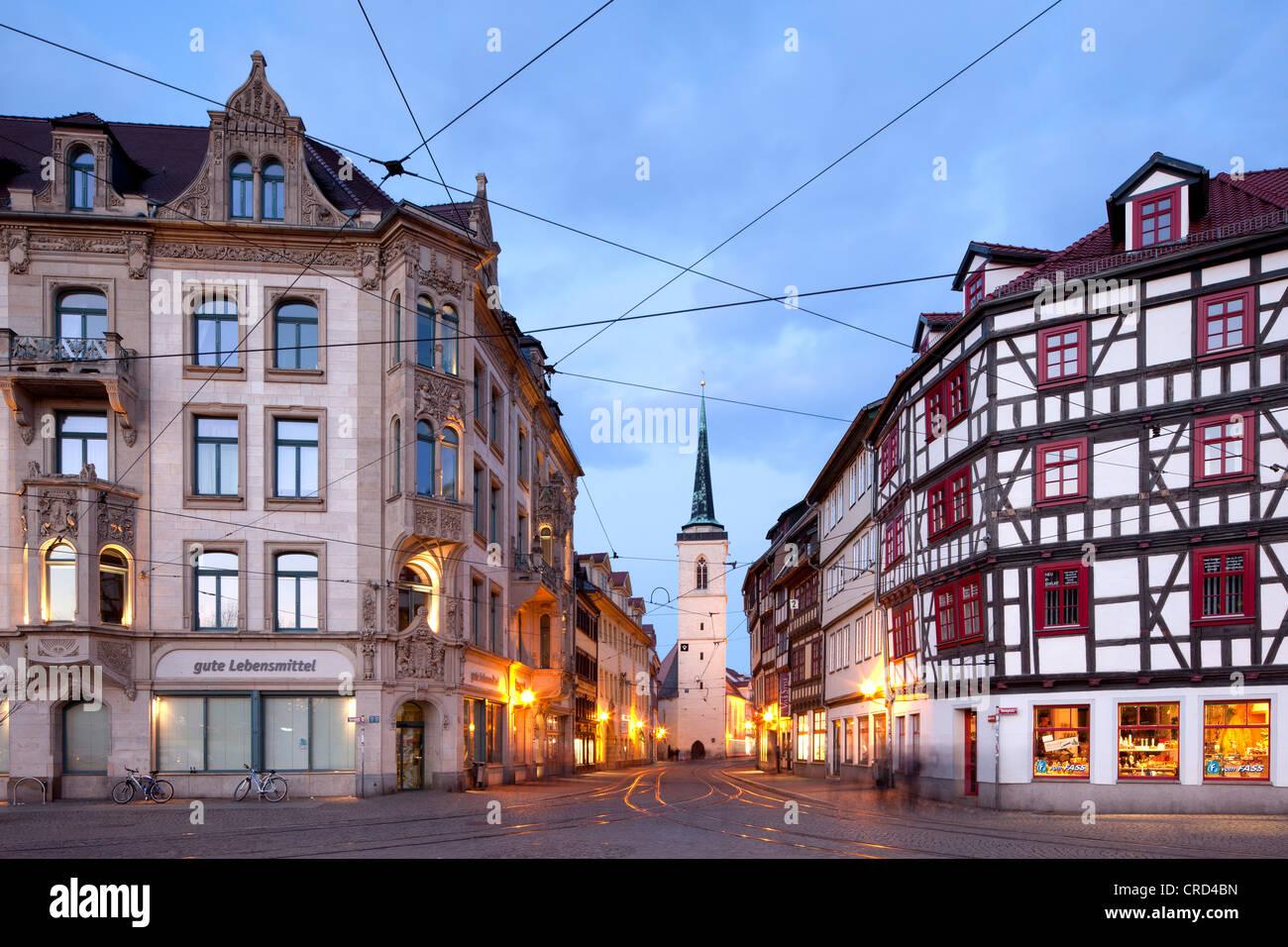 Allerheiligenkirche Kirche, quadratische Domplatz, Erfurt, Thüringen, Deutschland, Europa, PublicGround Stockbild