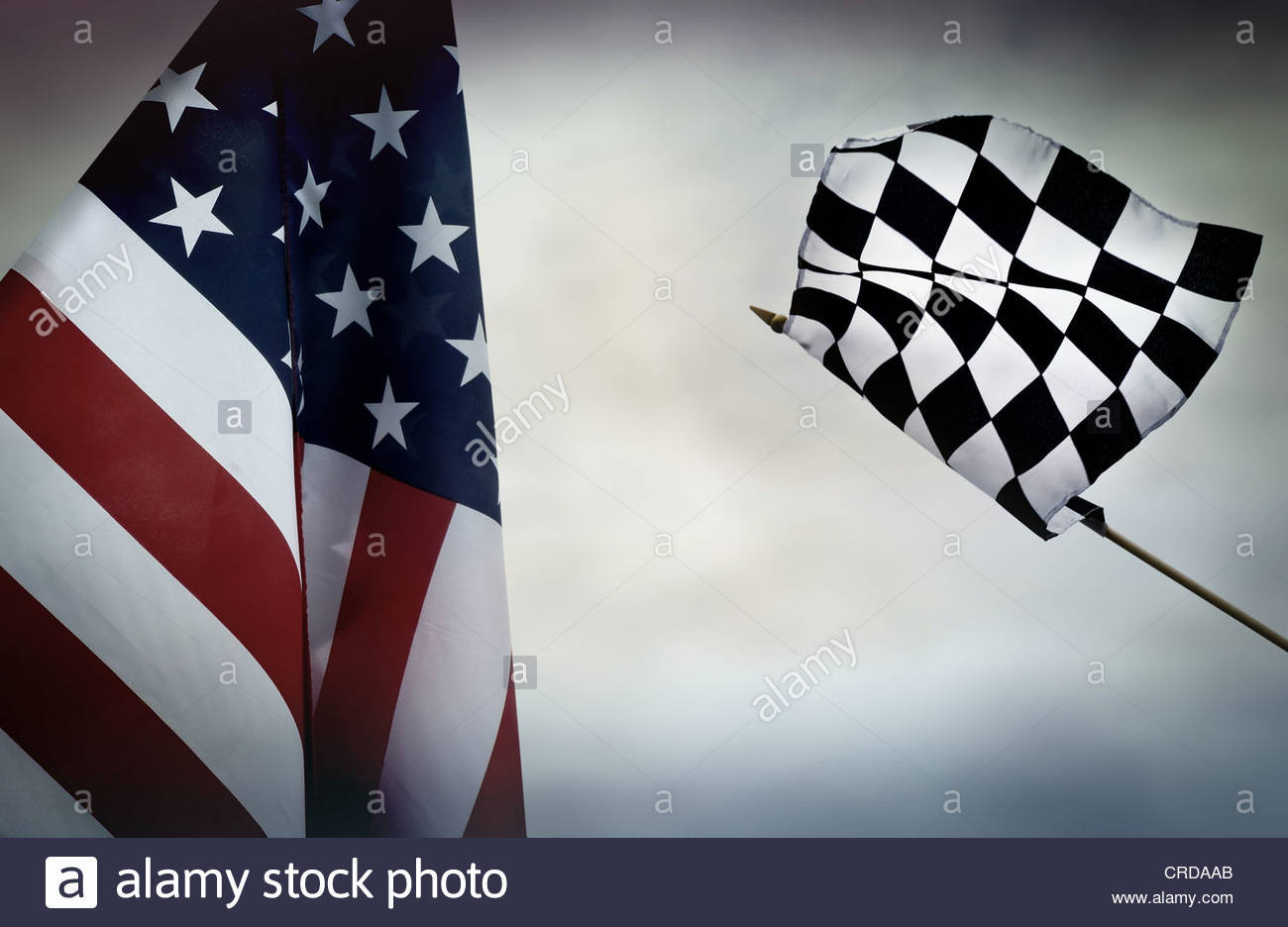amerikanische Rennen Stockbild