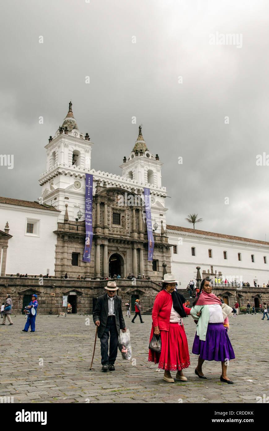 Tracht Quito Ecuador Stockbild