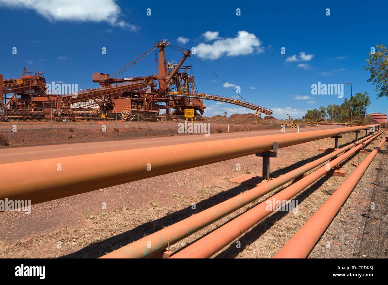 Alte Website der BHP Iron Ore, jetzt bekannt als BHP Milliarden, eine britisch-australische Bergbau Gruppe, Port Stockbild