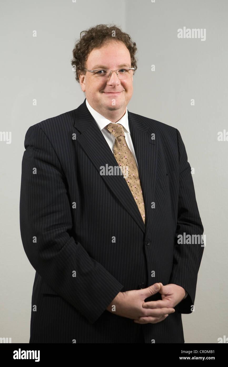 Olaf Zimmermann, Geschäftsführer des Deutschen Kulturrates und Herausgeber von Politik Und Kultur, Berlin, Stockbild