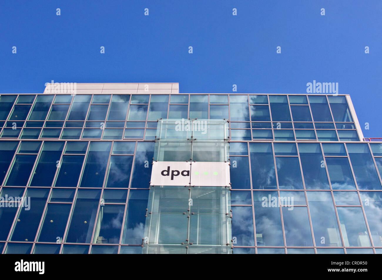DPA Presse Gebäude, Deutsche Presse-Agentur, deutsche Agentur, Berlin, Deutschland, Europa Stockbild