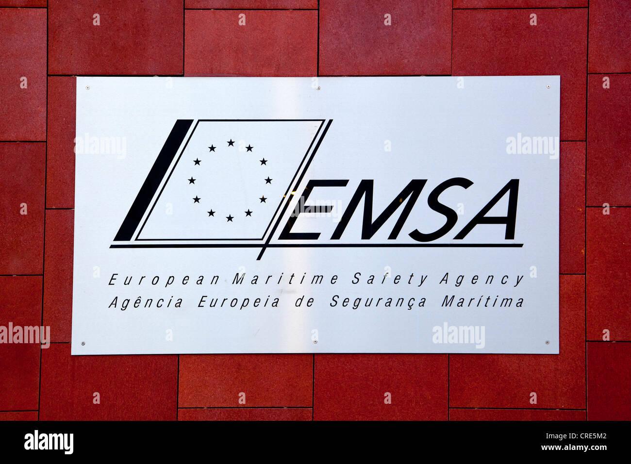 Verwaltungssitz der europäischen Sicherheit des Seeverkehrs, EMSA, eine Agentur der Europäischen Union, Stockbild