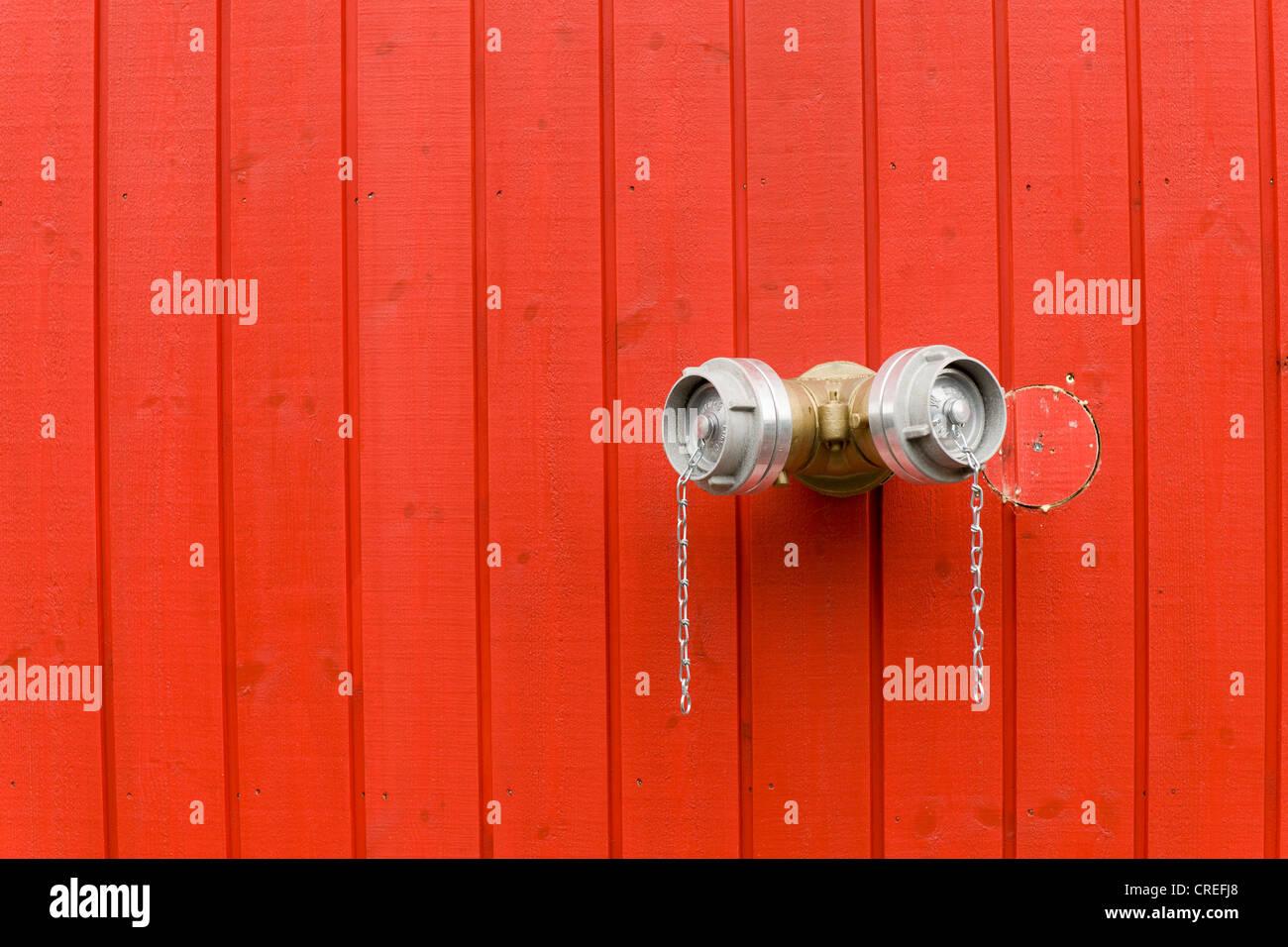 Wasseranschluss für die Feuerwehr, Island, Nordeuropa, PublicGround Stockbild