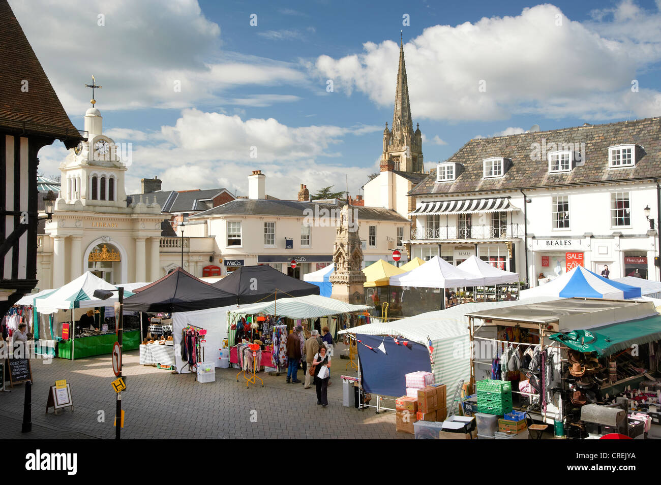alte englische marktstadt mit denkm lern und kirchturm uk stockfoto bild 48880030 alamy. Black Bedroom Furniture Sets. Home Design Ideas