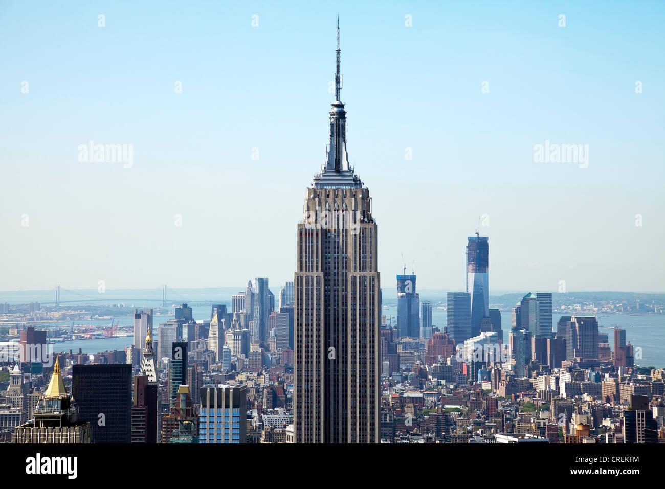 die legend ren empire state building midtown untere manhattan new york city ansicht von. Black Bedroom Furniture Sets. Home Design Ideas