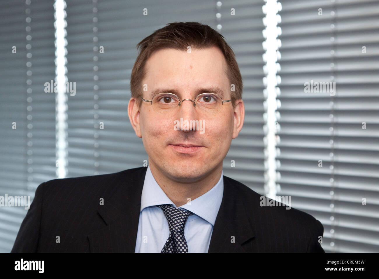 Andreas Paulke, Chief Financial Officer der Deutsche Beteiligungs AG Corporation, Pressekonferenz am 28.01.2011 Stockbild