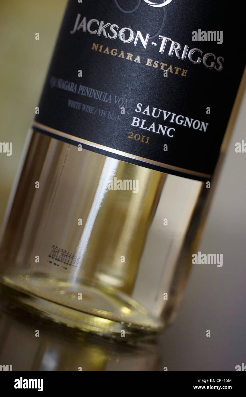 Flasche Wein Jackson Triggs Niagara Stockbild