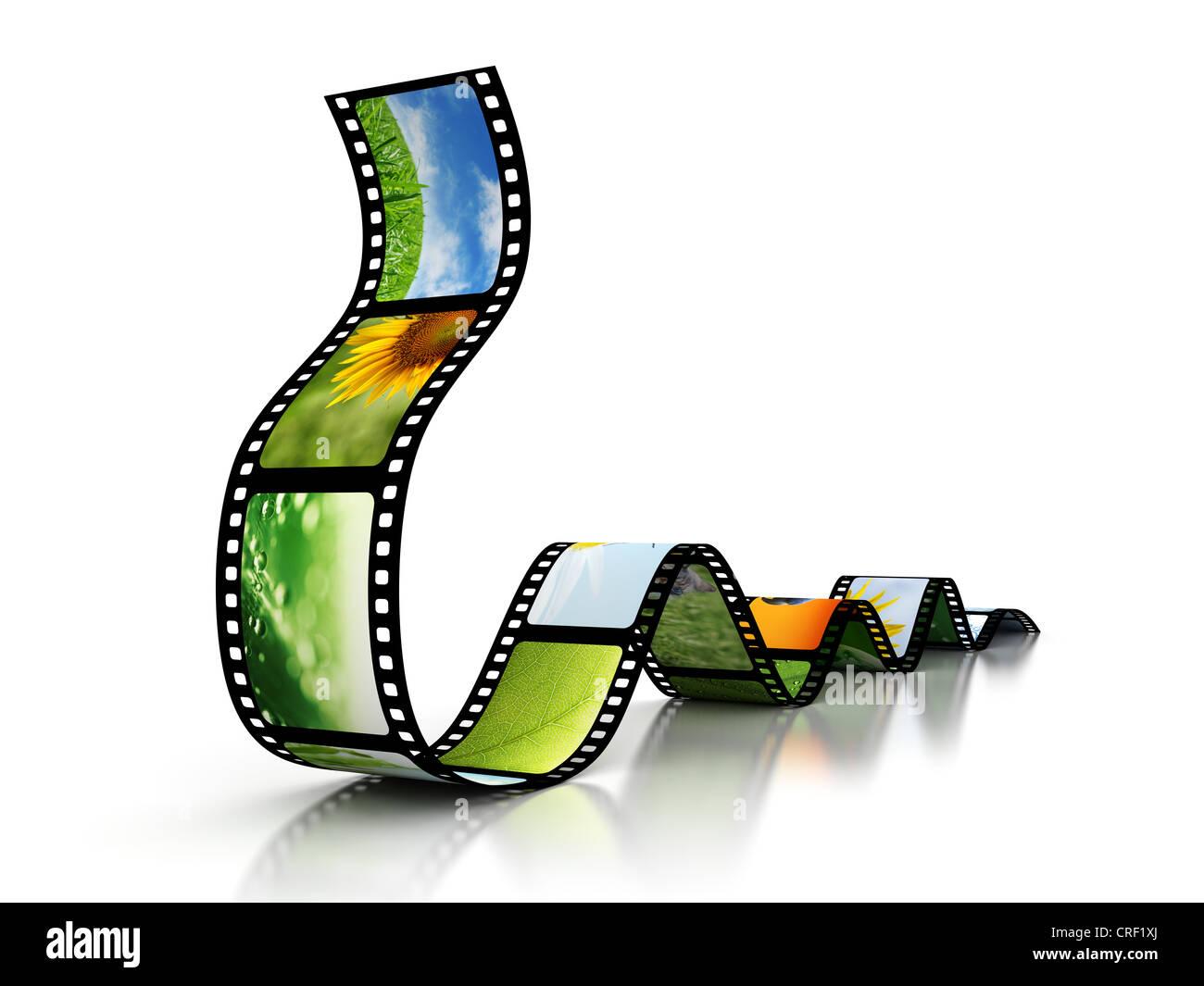 Film mit Bildern Stockbild