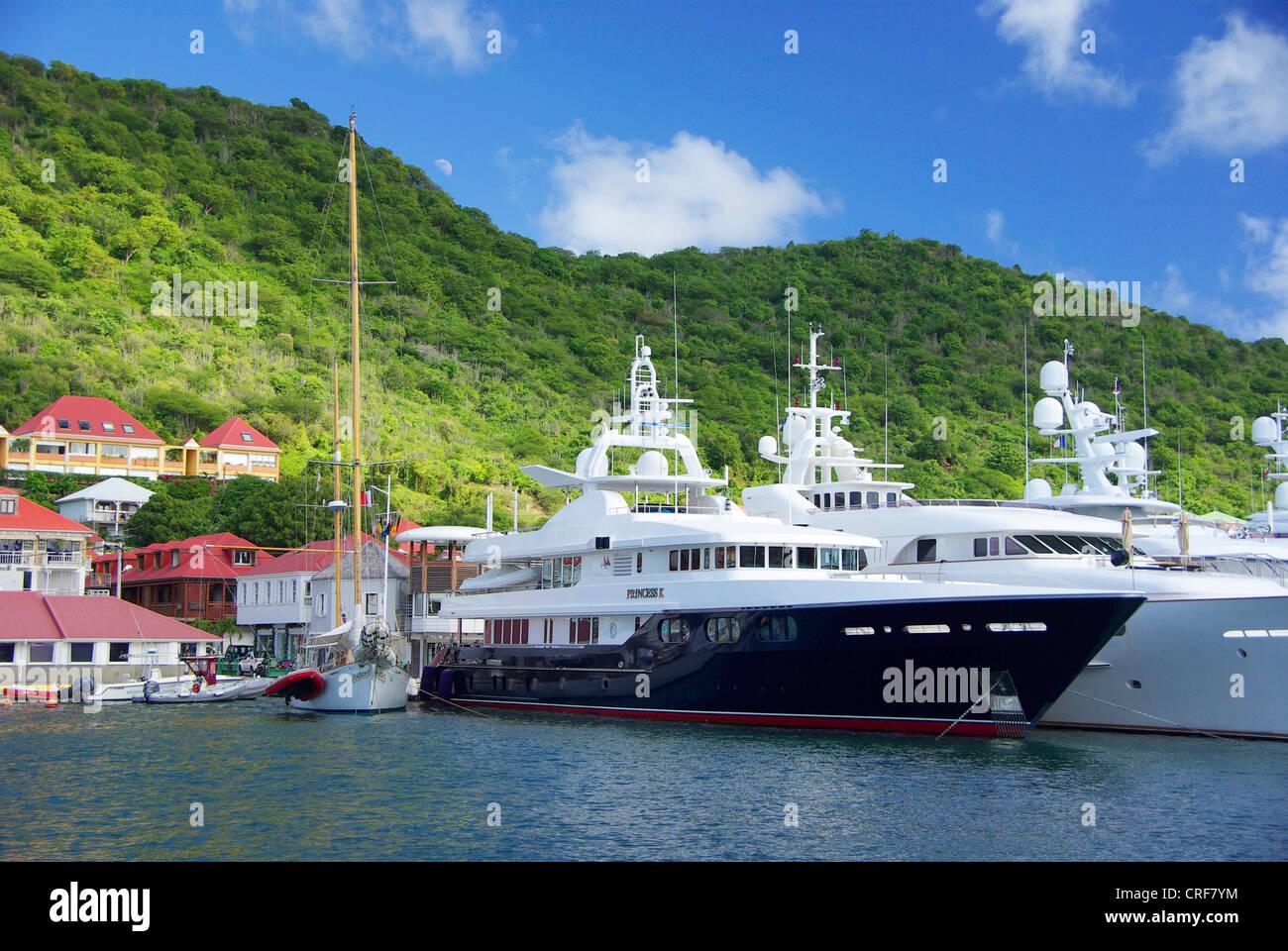 St. Barth, Gustavia, Franzoesiche Antillen, Saint Barth lmy Stockfoto
