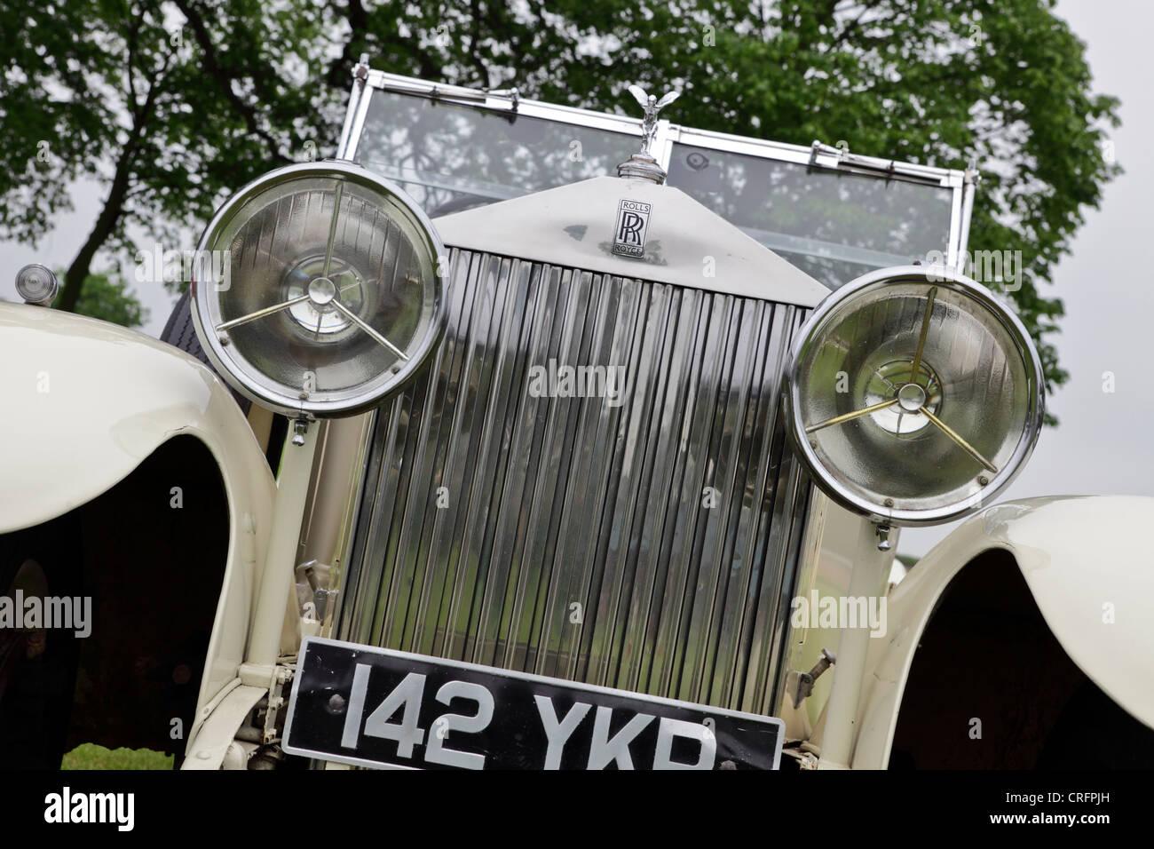 Rolls Royce Open Tourer 1937 Kraftfahrzeug. (4) von Peter Wheeler der Fotograf. Stockbild